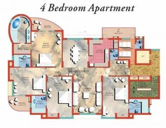 3161 sqft, 4 bhk Apartment in Pearls Gateway Towers Sector 44, Noida at Rs. 50000