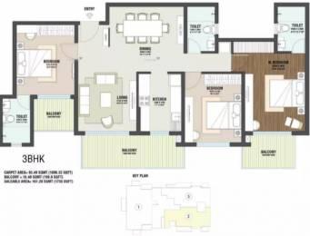 1735 sqft, 3 bhk Apartment in Indiabulls One Indiabulls Sector 104, Gurgaon at Rs. 95.4250 Lacs
