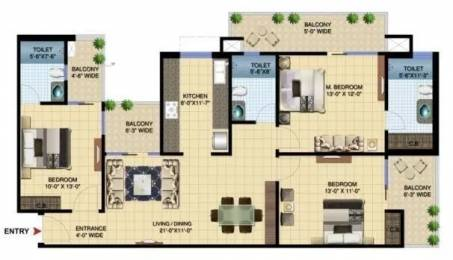 1730 sqft, 3 bhk Apartment in Paramount Golfforeste Zeta 1, Greater Noida at Rs. 58.0000 Lacs