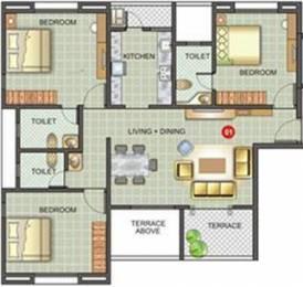 1414 sqft, 3 bhk Apartment in Kunal Belleza Bavdhan, Pune at Rs. 22000