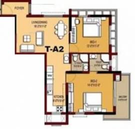 1023 sqft, 2 bhk Apartment in Olympia Opaline Navallur, Chennai at Rs. 18000