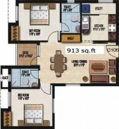 913 sqft, 2 bhk Apartment in Sidharth Dakshin Urapakkam, Chennai at Rs. 41.0000 Lacs