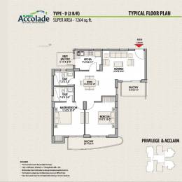 1264 sqft, 2 bhk Apartment in Eldeco Accolade Sector 2 Sohna, Gurgaon at Rs. 62.0000 Lacs