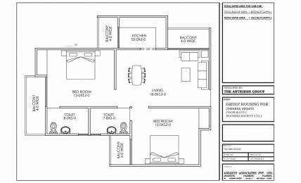 980 sqft, 2 bhk Apartment in Antriksh Galaxy Zone L Dwarka, Delhi at Rs. 35.8750 Lacs