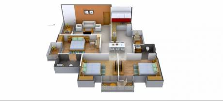 1350 sqft, 3 bhk Apartment in Antriksh Galaxy Zone L Dwarka, Delhi at Rs. 48.1750 Lacs