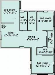 1202 sqft, 3 bhk Apartment in Loharuka Green Oasis Kaikhali, Kolkata at Rs. 18000