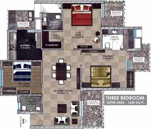 1530 sqft, 3 bhk Apartment in  Maya Garden City Nagla, Zirakpur at Rs. 14000