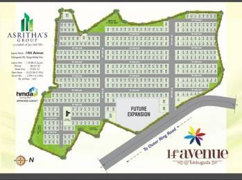 2340 sqft, Plot in Asrithas 14th Avenue Tukkuguda, Hyderabad at Rs. 38.7504 Lacs