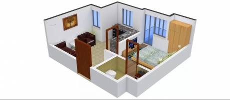 500 sqft, 1 bhk Apartment in Urbtech Xaviers Sector 168, Noida at Rs. 12000