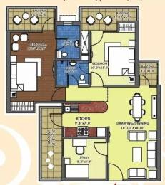 1240 sqft, 2 bhk Apartment in K World Srishti Raj Nagar Extension, Ghaziabad at Rs. 45.0000 Lacs