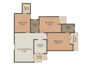 1400 sqft, 3 bhk Apartment in VVIP Addresses Raj Nagar Extension, Ghaziabad at Rs. 10000