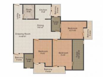 1850 sqft, 3 bhk Apartment in VVIP Addresses Raj Nagar Extension, Ghaziabad at Rs. 14000