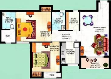 1090 sqft, 2 bhk Apartment in Sahara City Homes Apartments Lucknow Mubarakpur, Lucknow at Rs. 38.0000 Lacs