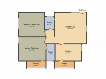1090 sqft, 2 bhk Apartment in BVS Pinnacle Bellandur, Bangalore at Rs. 58.0000 Lacs
