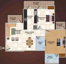 1197 sqft, 2 bhk Apartment in Panchsheel Wellington Crossing Republik, Ghaziabad at Rs. 9000