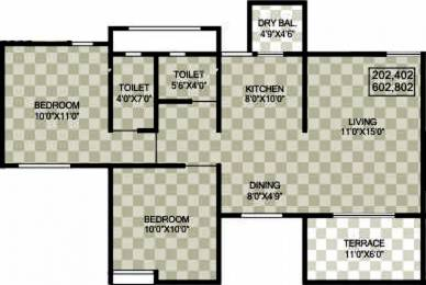 911 sqft, 2 bhk Apartment in Sukhwani Palms Wagholi, Pune at Rs. 42.5000 Lacs