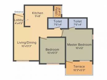 845 sqft, 2 bhk Apartment in Sarthak Optima Heights Wagholi, Pune at Rs. 33.0000 Lacs
