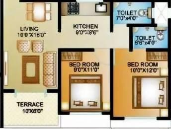 743 sqft, 2 bhk Apartment in ARK Alfa Homes Wagholi, Pune at Rs. 30.0000 Lacs