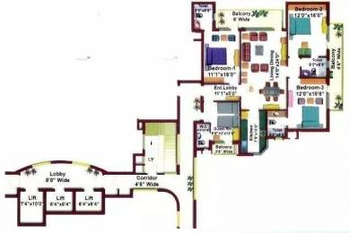 2100 sqft, 4 bhk Apartment in Eros Kenwood Towers Sector 39, Faridabad at Rs. 1.6000 Cr