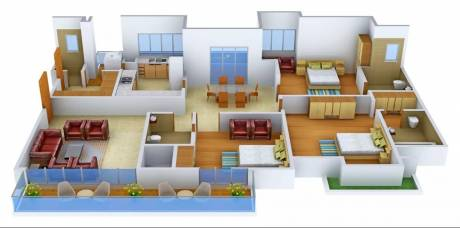 2390 sqft, 3 bhk Apartment in Krrish Ibiza Town Sector 38, Faridabad at Rs. 1.7200 Cr