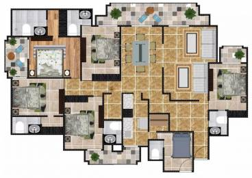 4400 sqft, 5 bhk Apartment in Eros Royale Retreat I Sector 39, Faridabad at Rs. 85000