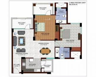 1310 sqft, 2 bhk Apartment in Ramprastha The Edge Towers Sector 37D, Gurgaon at Rs. 15000