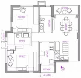 1032 sqft, 2 bhk Apartment in PS Panache Salt Lake City, Kolkata at Rs. 72.0000 Lacs