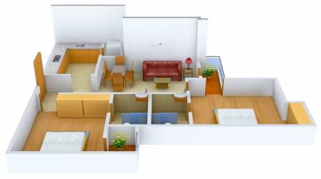 990 sqft, 2 bhk Apartment in Logix Blossom Greens Sector 143, Noida at Rs. 11500