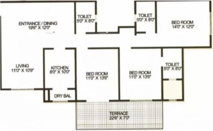 1724 sqft, 3 bhk Apartment in Karia Konark Orchid Wagholi, Pune at Rs. 75.0000 Lacs