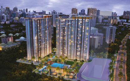 634 sqft, 1 bhk Apartment in Ram Pushpanjali Residency Phase III Thane West, Mumbai at Rs. 61.0000 Lacs