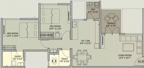 925 sqft, 2 bhk Apartment in Rainbow Urban Forest Mamurdi, Pune at Rs. 10000