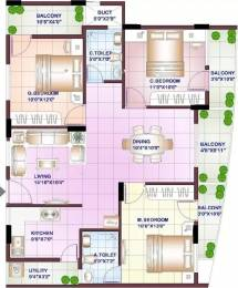 1432 sqft, 3 bhk Apartment in Sowparnika Swastika Attibele, Bangalore at Rs. 20000