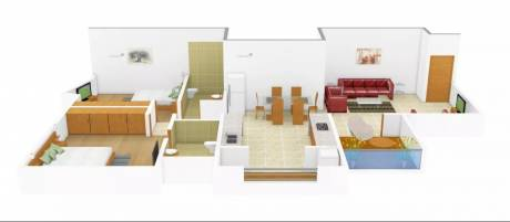 1050 sqft, 2 bhk Apartment in Rainbow Revell Orchid Lohegaon, Pune at Rs. 15000