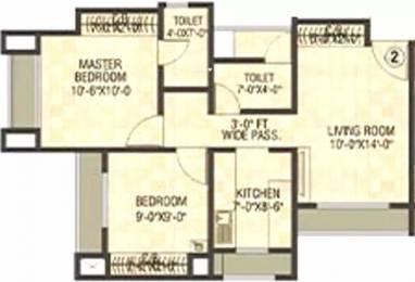 1049 sqft, 2 bhk Apartment in Puraniks Tokyo Bay Thane West, Mumbai at Rs. 86.0000 Lacs