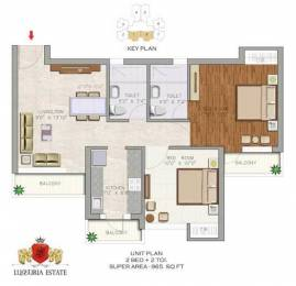 965 sqft, 2 bhk Apartment in Aditya Luxuria Estate Dasna, Ghaziabad at Rs. 28.8000 Lacs