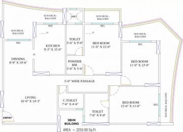 2255 sqft, 3 bhk Apartment in Arihant Ayati Pratap Nagar, Jodhpur at Rs. 1.5800 Cr