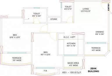 1095 sqft, 2 bhk Apartment in Arihant Adita Gangana Road, Jodhpur at Rs. 37.0000 Lacs