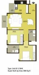 888 sqft, 2 bhk Apartment in Century Paradise Hulimavu, Bangalore at Rs. 47.0000 Lacs