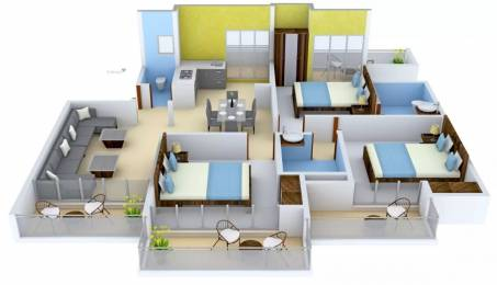 1732 sqft, 3 bhk Apartment in Apex Athena Sector 75, Noida at Rs. 84.9000 Lacs