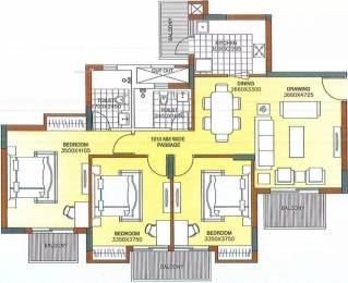 1500 sqft, 3 bhk Apartment in ATS Dolce Zeta, Greater Noida at Rs. 15000