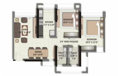 1250 sqft, 2 bhk BuilderFloor in Builder Project Sector 10A, Gurgaon at Rs. 15055