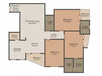 2015 sqft, 3 bhk Apartment in Unnati Park View Bani Park, Jaipur at Rs. 1.1000 Cr