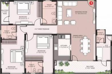 2254 sqft, 3 bhk Apartment in Siddha Basil Bani Park, Jaipur at Rs. 1.2500 Cr