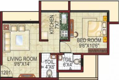 665 sqft, 1 bhk Apartment in Bilad Hillmark Heights Taloja, Mumbai at Rs. 38.5000 Lacs