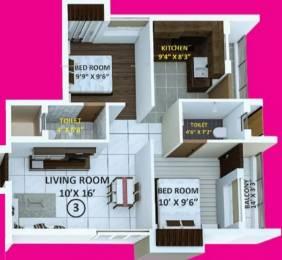 870 sqft, 2 bhk Apartment in Indira Primrose Madipakkam, Chennai at Rs. 47.0000 Lacs