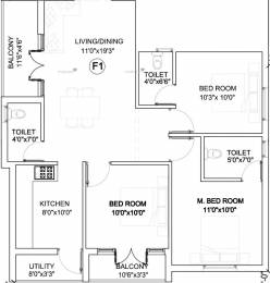 1189 sqft, 3 bhk Apartment in Indira Sterlings Adyar, Chennai at Rs. 1.6700 Cr