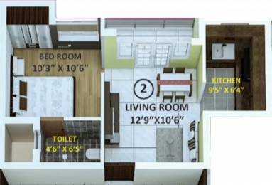 535 sqft, 1 bhk Apartment in Indira Primrose Madipakkam, Chennai at Rs. 30.0000 Lacs