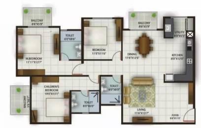 1775 sqft, 3 bhk Apartment in Century Celeste Jakkur, Bangalore at Rs. 1.2600 Cr