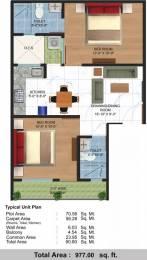 977 sqft, 2 bhk Apartment in Renowned Srishti Premium Floor Crossing Republik, Ghaziabad at Rs. 33.0000 Lacs