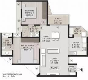 1012 sqft, 2 bhk Apartment in Aratt Milano Avalahalli Off Sarjapur Road, Bangalore at Rs. 53.0000 Lacs
